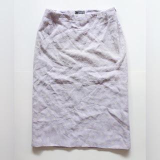 Gianni Versace Lavender and Lamé Vintage Skirt
