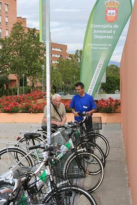 El Servicio Municipal de Préstamo de Bicicletas de Tres Cantos duplica el número de usos tras un año en funcionamiento