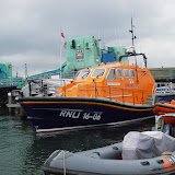 Has someone given Poole Lifeboat Station a new lifeboat? A Tamar class lifeboat fits nicely here!