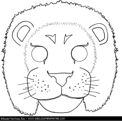 leon  cmascara de animales  para colorar (5)_thumb