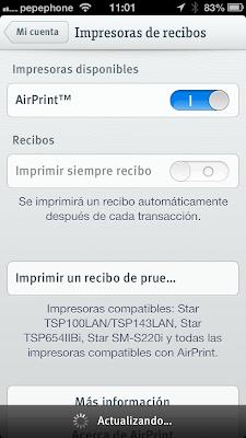 Airprint iZettle