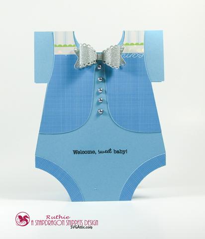 SnapDragon Snippets - Baby Card - Welcome Baby - Ruthie Lopez
