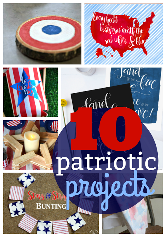 10 Patriotic Projects at GingerSnapCrafts.com #patriotic #crafts