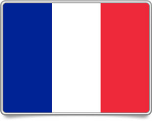 French framed flag icons with box shadow