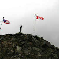 To the left, Alaska - To the right, British Columbia