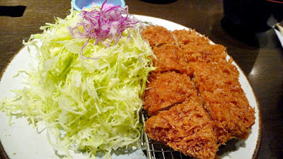 Tonkatsu, or a fried breaded pork cutlet that is so flavorful and juicy that I them as is without any sauce because the pork was sourced so well and was marbled