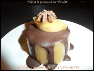 Flan à la pomme et au chocolat