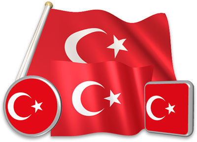 Turkish flag animated gif collection