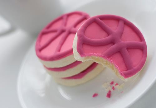 Imagen fondo galletas rosa mujer chicas