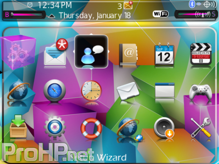 A1 Colorful Cubes Theme (9900/9930 OS7) Preview 2