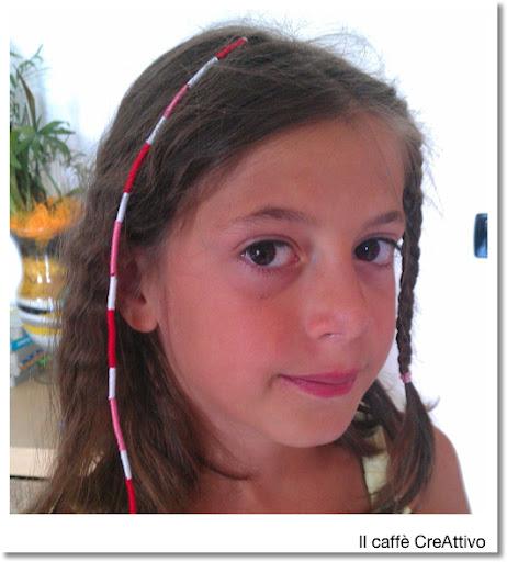 Treccine colorate con fili di cotone per capelli – Acconciature alla ... fcb6cc10ccc4