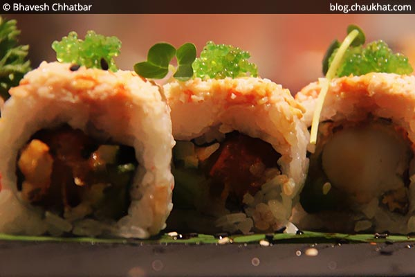 Sriracha Blush Sushis at Shizusan (The Asian Bistro) in Phoenix Market City at Viman Nagar area of Pune