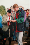 Veteran signing Dutch flag