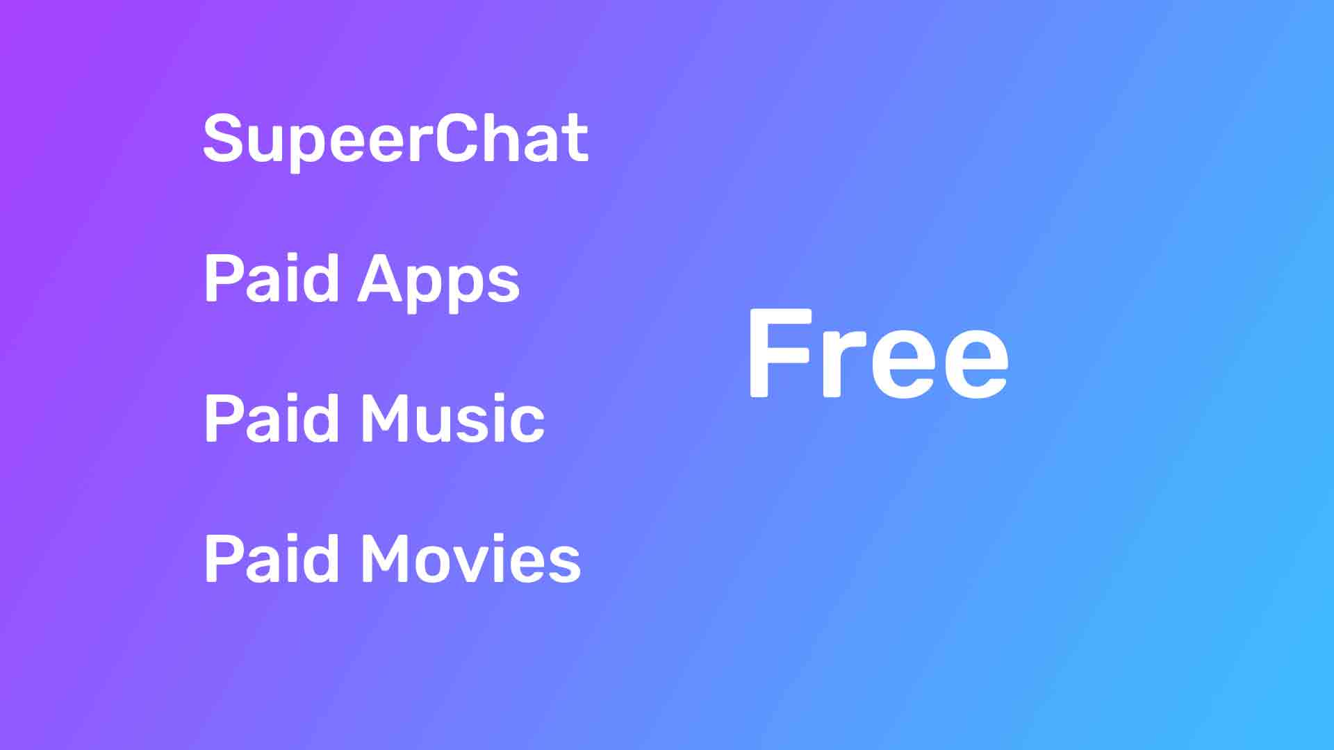 How to buy [FREE] Superchat, Paid apps, Paid books, form the play store. | paid apps | free superchat | paid books.