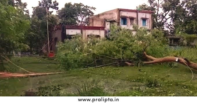 ঝড়ের দাপটে লন্ডভন্ড উত্তর ২৪ পরগনার হিঙ্গলগঞ্জ - Pralipta