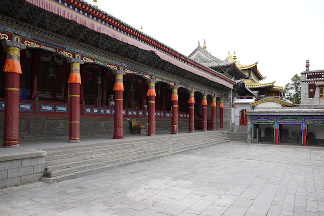 Scene without tourists at Kumbum Monastery (Taer Si) in Qinghai, China