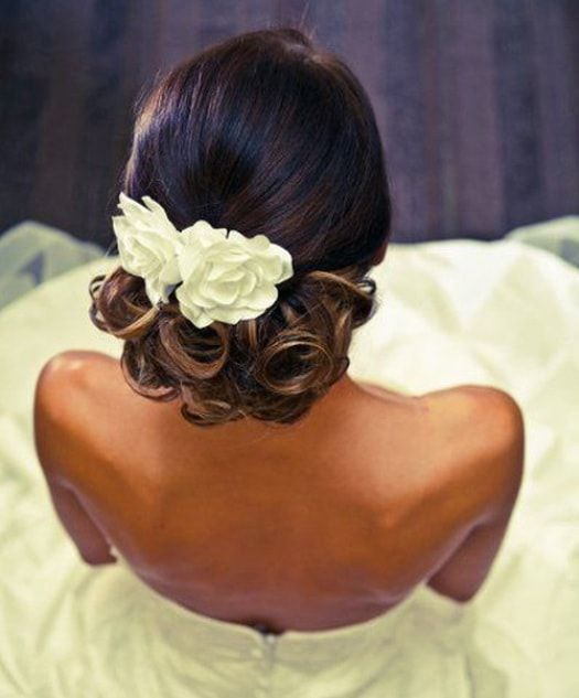 Hair:Wedding Hairstyles ForThe owners of dark skin 2017 13