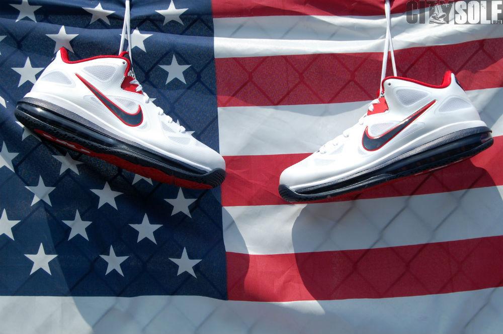 4efb7b6d8cb Nike LeBron 9 Low 8220USA8221 WhiteObsidianUniversity Red Nike LeBron 9 Low  8220USA8221 WhiteObsidianUniversity Red ...