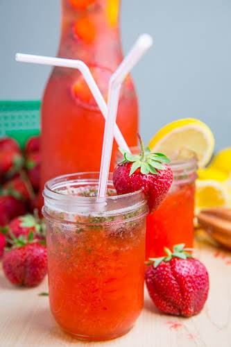 "Strawberry Basil Lemonade ""As exciting as a fruity lemonade is how about..."