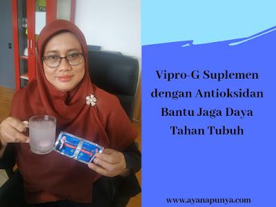 Vipro G Suplemen dengan antioksidan