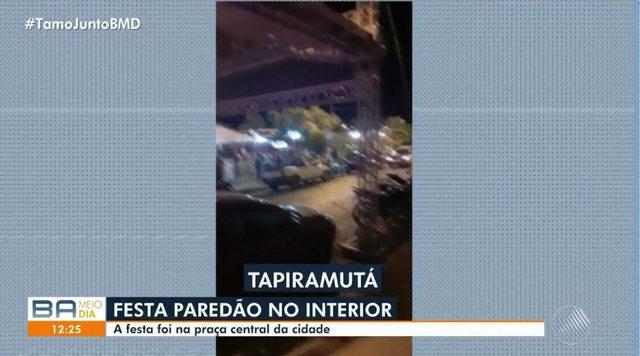 Aglomeração no ultimo sábado(17) em Tapiramutá-BA ganha destaques nos jornais da Rede Bahia.