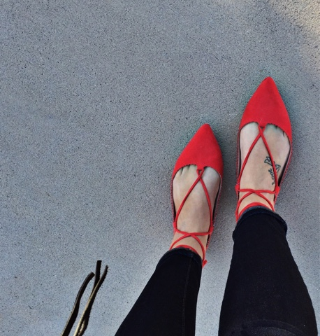 lace up flats, pointy toe flats, shoe love, style on a budget
