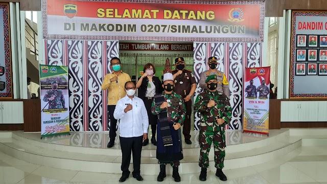 Kapolres Simalungun Hadiri Kunker Danrem 022/PT ke Kodim 0207/Simalungun