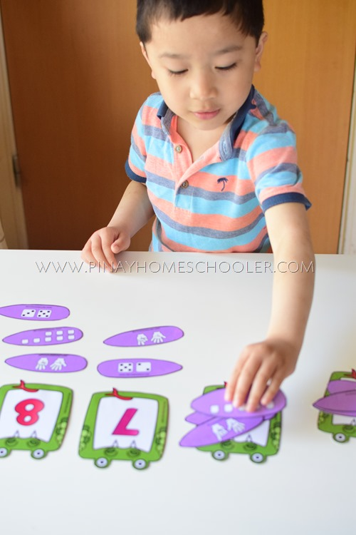 Number Symbol and Number Representation Matching Activity
