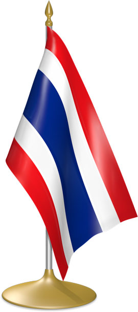 Thai table flags - desk flags