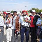 Scouts Emiratís con los delegados de Chile y Colombia