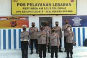 Jelang Lebaran As Ops Mabes Polri Pantau Rest Area 102 Cipali Subang