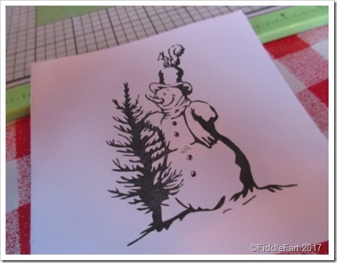 snowman stamp Be Creative Wonder Press