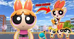 ID Patung Blosom Powerpuff Grils Di Sakura School Simulator