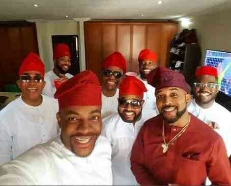 See photos of Banky W's crew for his introduction today