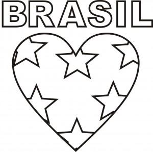 Riscos Brasil Copa do Mundo - coração com estrelas