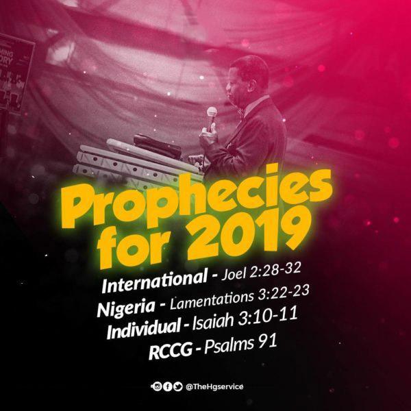 2019 Prophecies RCCG- Pastor E.A Adeboye