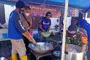 Dapur Lapangan Sinergitas TNI-Polri Kembali Distribusikan Paket Menu Buka Puasa