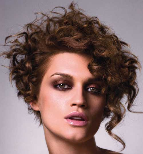 hairstyle for short curly hair 2016