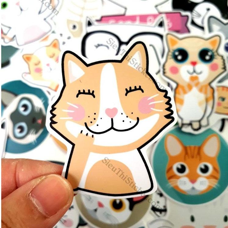sticker mèo cute kitty