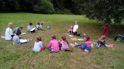 Září 2016 - učení venku