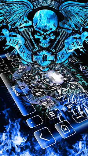 Blue Angry Skull Keyboard 10001005 screenshots 2