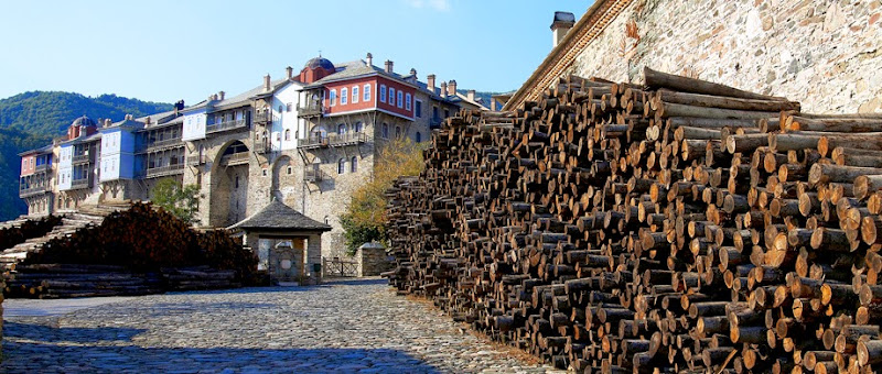 26. Holy Monastery of Iviron. Wood for winter