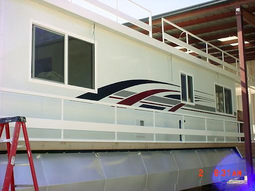 HouseboatGraphicscom Gallery - Custom designed houseboat graphics