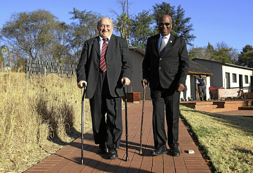 Celebrated: Denis Goldberg and Andrew Mlangeni, two of the three Rivonia triallists who are the subject of Nick Stadlen's film Life is Wonderful. The other is Ahmed Kathrada. The movie also focuses on three defence lawyers: George Bizos, Joel Joffe and Denis Kuny. Picture: VELI NHLAPO