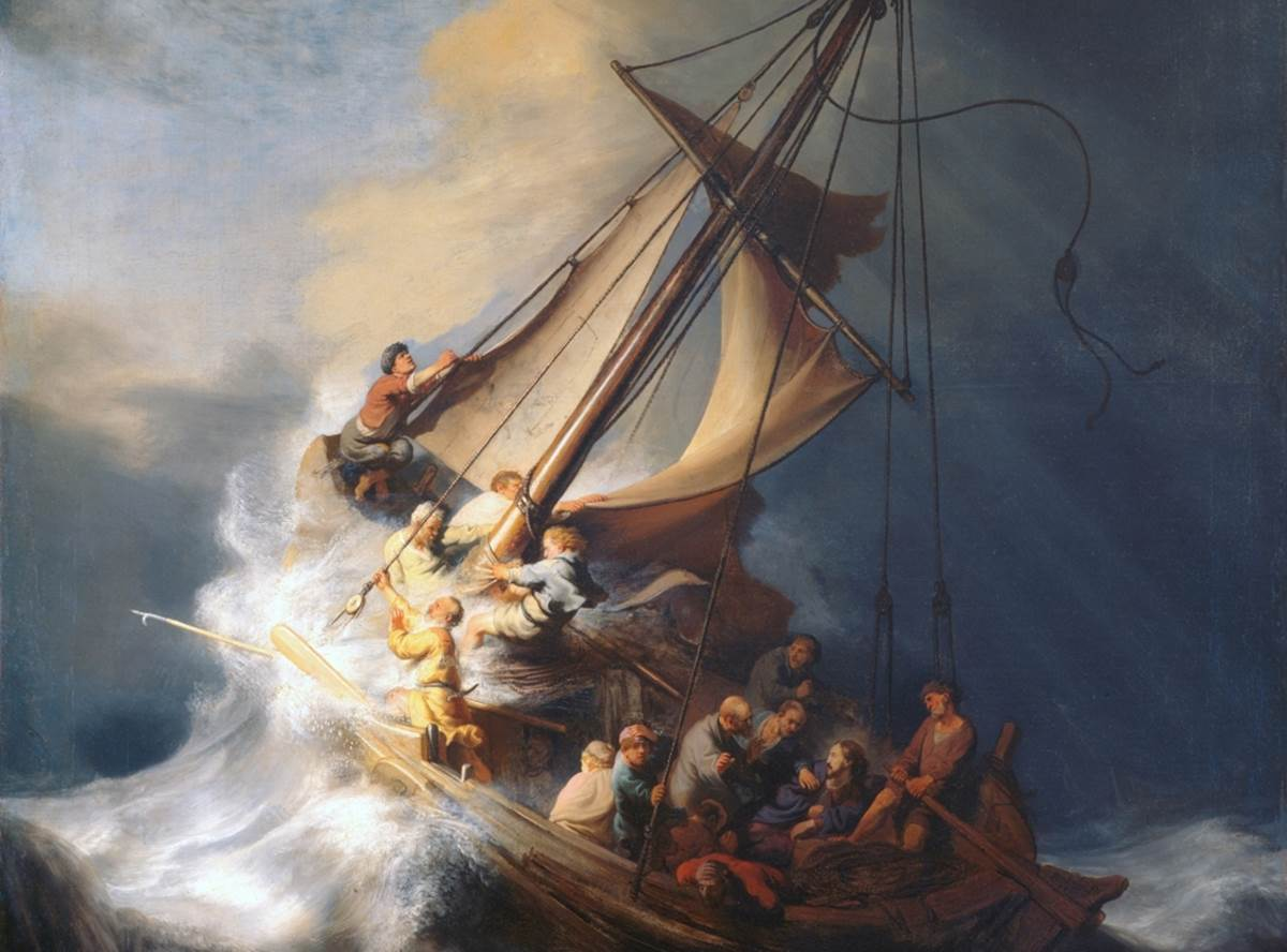 rembrandt storm on the sea of galilee