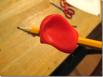 Pinch Grip from the Pencil Grip