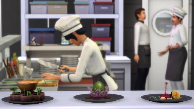 De Sims 4 Uit Eten experimentele gerechten
