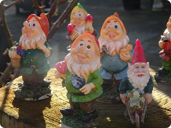 Gnomes greet visitors