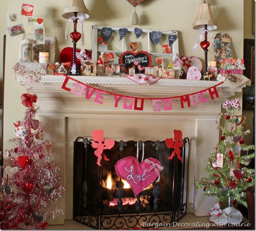 Valentine Mantel Bargain Decorating With Laurie