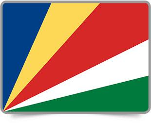 Seychellois framed flag icons with box shadow